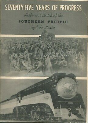 Historical Sketch Southern Pacific Railway Railroad Softcover Book 1945