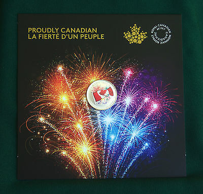 2017 CANADA 150 Glow in dark $5 Flag & fireworks 99.99% silver Proudly canadian