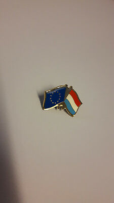 Pin's vlag europese unie & luxembourg- drapeau Union Européenne & Luxembourg