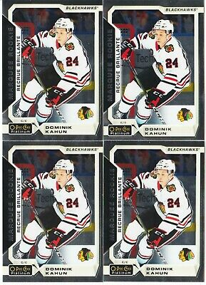 Dominik Kahun 4 Card Rc Lot 18-19 Opc Platinum Marquee Rookie #176 Hawks 2018-19