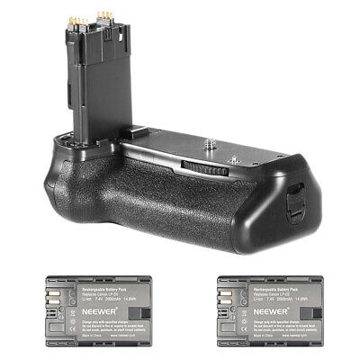 Neewer Battery Grip for BG-E14+2Pcs 2000mAh Li-ion Battery Pack for Canon LP-E6