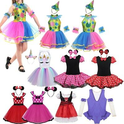 Kids Girls Princess Fancy Dress Costume Baby Tutu Dress Party Cosplay Outfit Set