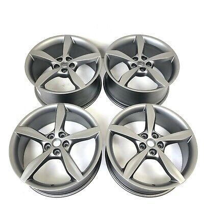 "Set Of Genuine Ferrari Portofino Grigio Corsa 20"" Alloy Wheels 336550 336551"