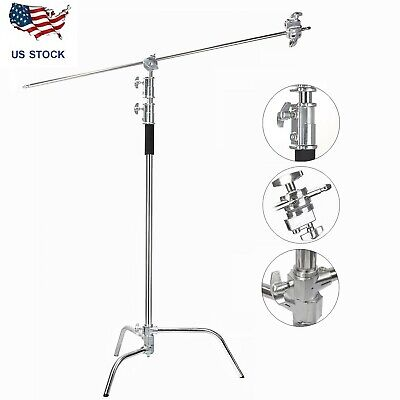 Professional Heavy Duty Studio C-Stand Century Stand with Gobo Arm & Grip Heads