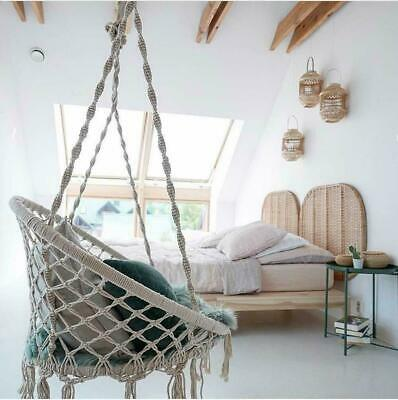 Tribesigns Portable Hang Bed Rattan Swing Seat Hammock Chair Home Premium Garden