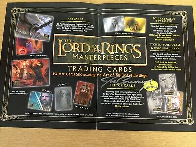 Rare Topps Lotr Masterpieces 1 :  Joe Corroney Autograph On Sales Flyer