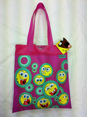 Girls Genuine SpongeBob Squarepants Cotton Tote Shopping Bag *SALE*