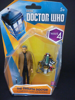 "Dr Who Twelfth 12th Doctor Wave 4 Caretaker and Backpack 3.75"" Figure NEW"