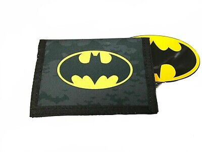 Official Batman Logo Boys Trifold Money Change Notes Wallet New Exclusive