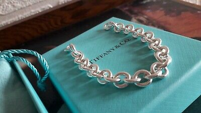 AUTHENTIC 100% TIFFANY & Co SOLID LARGE LINK SILVER  CHAIN FOR CHARMS BRACELET