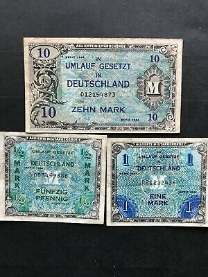 German military banknotes 1940s. 1393