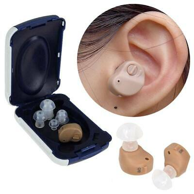 New Mini Invisible Hearing Aid Digital In Ear Hearing Aid Sound Amplifier 2pcs