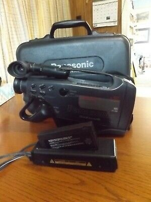 Panasonic VHS OmniMovie Camcorder PV-800 Used With Case