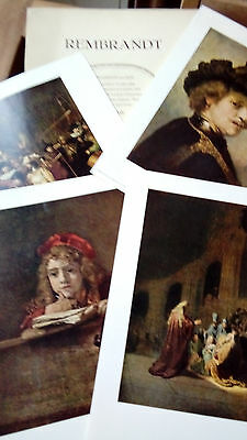 4 reproductions REMBRANDT, points Soubry farde nr 7