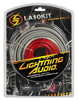 Lightning Audio LA10KIT 10mm² 10qmm Car Amp Kabel set für Verstärker