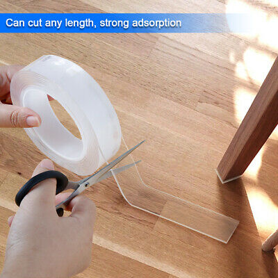 Magic Double-sided Tape Traceless Washable Adhesive Tape Nano Invisible Gel Tape