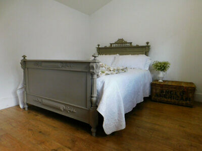 Kingsize antique french bed and base by seventh heaven