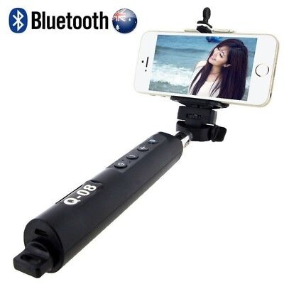 Wireless Bluetooth Zoom Selfie Stick  Extendable Handheld Mono pod for iPhone