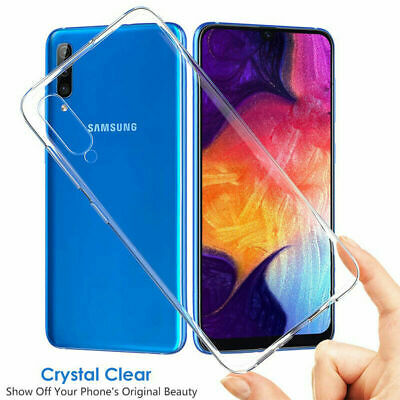 For Samsung Galaxy A50 A40 A70 Ultra-Thin Crystal Clear Rigid Plastic Case Cover