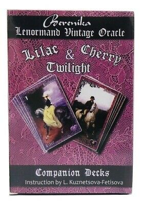 Berenika Lenormand Vintage Oracle Lilac & Cherry Twilight 36+36 Deck Cards Tarot