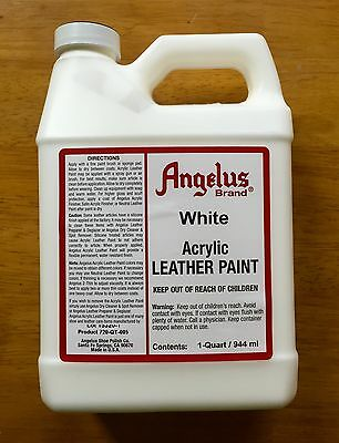 Angelus White Acrylic Leather Paint 32oz