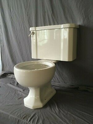 Vtg Mid Century Complete Art Deco Toilet Old Vtg Kohler Wellworth White 109-19E