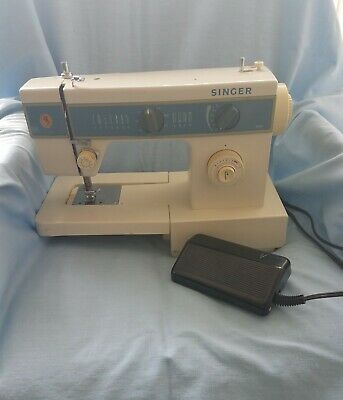 Singer Sewing Machine Model 5147 - w/foot pedal - runs smoothly-with case