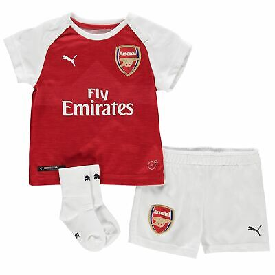 Arsenal FC FOOTBALL SHIRT SHORTS vendita MINI KIT Ragazzi Ragazze Bambini Junior Top Puma