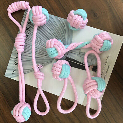 Braided Cotton Rope Pet Small Dog Puppy Chew Bite Toys Training Tools 6 Pcs Set