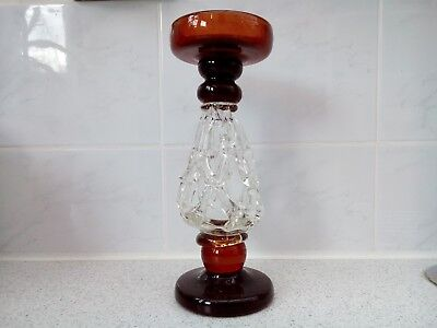 Glass Candlestick Candle Holder