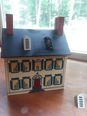 Windfield Designs Large Wooden Bank Signed Musser 1986 Unglued Window REPAIRABLE