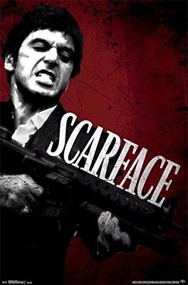 Scarface - Say Hello to my Little Friend 34x22.5 Movie Poster Gangster Tony Gun