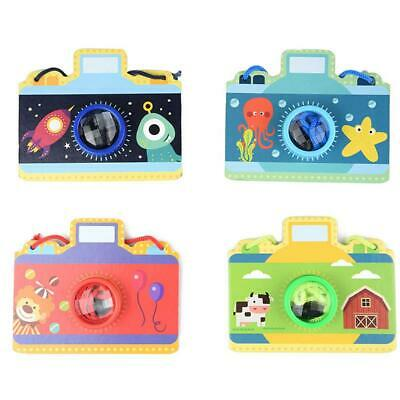 Multi-Prism Effect Cartoon Camera Style Kaleidoscope Paper Card Fun Toys #gib