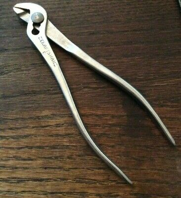 "Vintage/RARE USA CRAFTSMAN TOOL 5-1/2"" Long Slip-Joint Ignition Pliers CIRCLE-P"