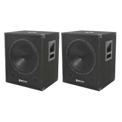 Qtx Sound QT15SA Active Powered Subwoofer Dj Pa Sub Coppia di Altoparlanti