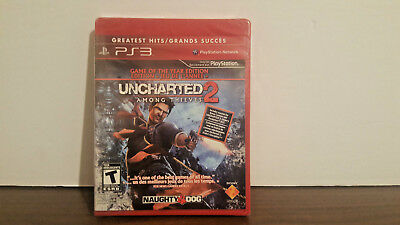 Uncharted 2: Among Thieves -- Game of the Year Edition PS3 new sealed NFR  GH