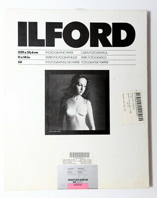 ILFORD Multigrade III RC Rapid Photographic Paper Pearl 11x14in 50 Sheets *NEW*