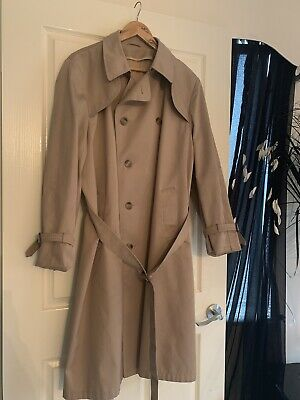 Vintage Yves Saint Laurent Men's Double Breasted Trench Coat
