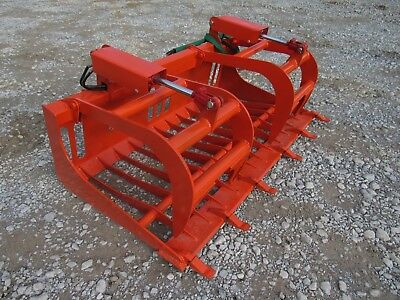 """Kubota Compact Tractor Attachment - 66"""" Rock Bucket Tooth Grapple - Ship $179"""