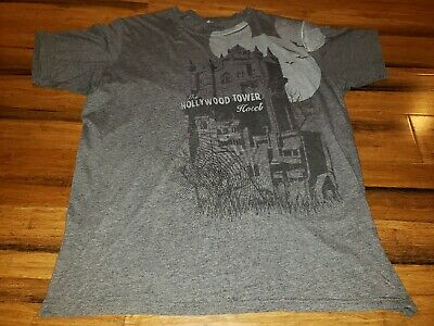 DISNEYLAND CALIFORNIA ADVENTURE RARE HOLLYWOOD TOWER HOTEL parks t-SHIRT 2XL
