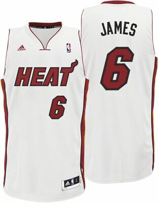 3e1f20d0b66f6 NBA Lebron James Heat de Miami Basketball Swingman T-Shirt Jersey Maillot