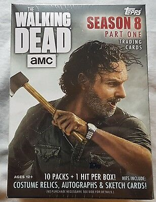 Topps the Walking Dead Season 8 Trading Cards Blaster Box 2018 Trading Cards