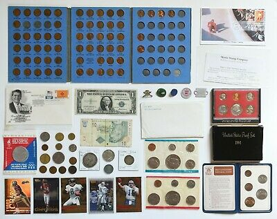 HUGE Coin Collection PROOF+Mint Sets, SILVER Certificate, FDCs Junk Drawer Lot