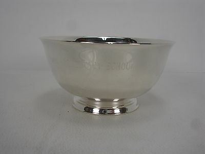 "Paul Revere Reproduction Wm. A. Rogers Oneida Ltd Silver Plated 4"" Footed Bowl"