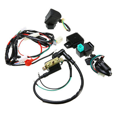 CDI Wiring Harness Ignition Black Shell Accessories Kit Motorcycle Coil