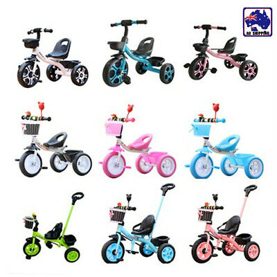 3 Wheel Bike Bicycle Tricycle Trike Basket Kids Children Toddler Toy