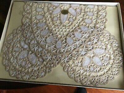 Antique Handmade Lace Duchess set Boxed
