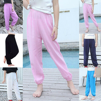 Cute Kid Girls Trousers Full Length Baggy Short Harem Pants Summer 8-16 Years