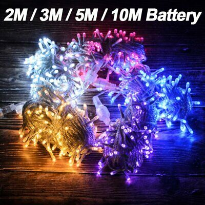 Waterproof Battery Powered Fairy String Lights 2-10M LED Outdoor Xmas Wedding