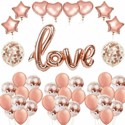Rose Gold Foil/Latex Balloons Birthday Wedding Hen Party Engagement Party Decor
